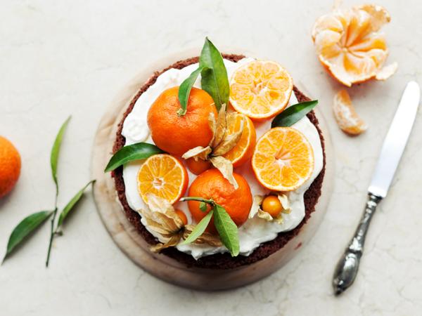 کیک نارنگی ساده