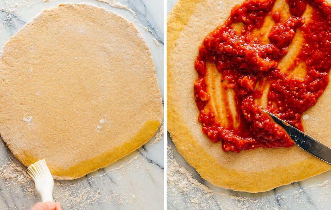 طرز تهیه نان و سس پیتزا خانگی
