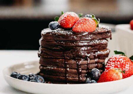 طرز تهیه پنکیک شکلاتی خوشمزه