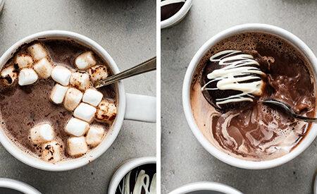 بمب شکلات داغ یک نوشیدنی جالب