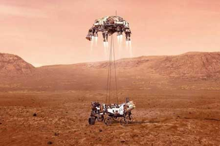 «استقامت» روی سطح مریخ نشست (+تصاویر)