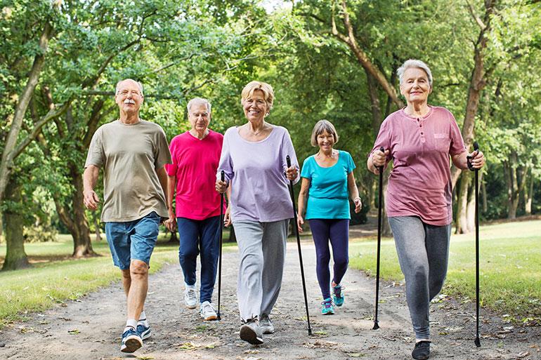 پیاده روی و ورزش برای تقویت ریه