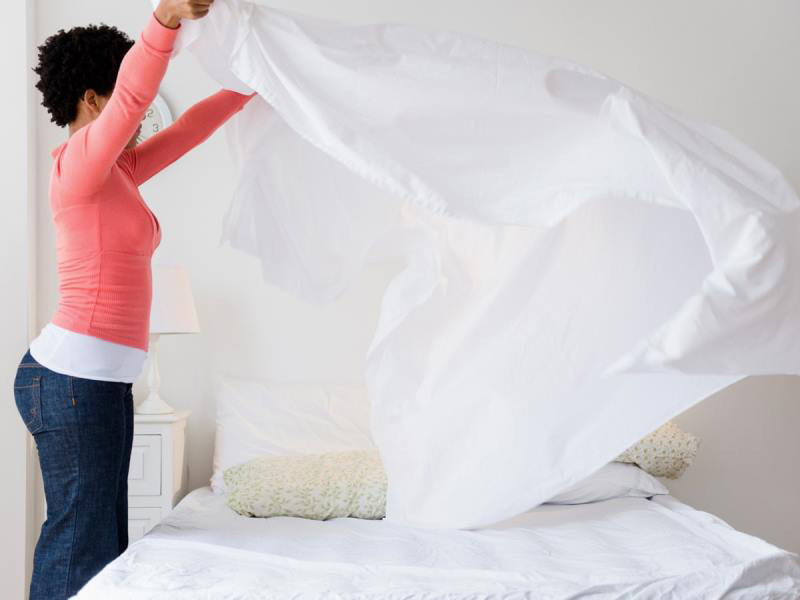 مرتب کردن تخت