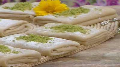 حلوای ضیابری شیرینی محلی گیلان/آموزش تصویری