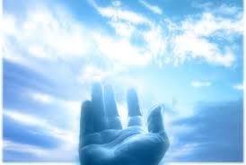 دست به سوی آسمان