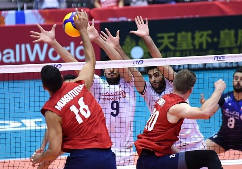بازی والیبال ایران وآمریکا