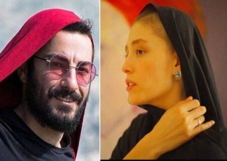 عکسی از نوید محمدزاده و فرشته حسینی زیر پتو