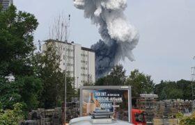 ویدئویی از لحظه انفجار مهیب در کارخانه مواد شیمیایی در آلمان