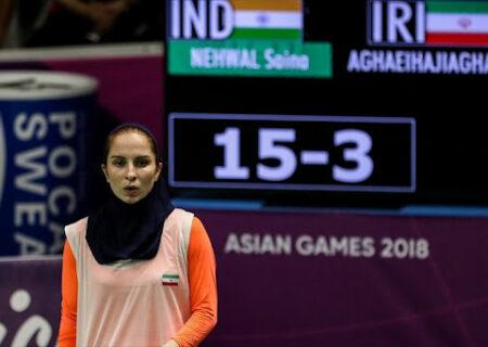 پیروزی ثریا آقایی در المپیک/ پایان کار دختر بدمینتون باز ایرانی