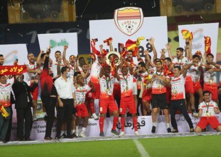 شادی هواداران فولاد پس از قهرمانی در جام حذفی