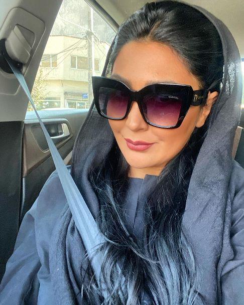 کشف حجاب بازیگر جوان؛ مریم معصومی با موهای پر کلاغی
