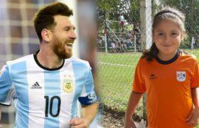 دختربچه ۸ ساله جوانترین بازیکن تاریخ فوتبال و رقیب مسی
