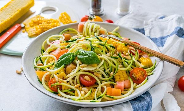 اسپاگتی کدوسبز خام/غذاهای کم کالری