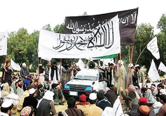 پرچم طالبان و داعش