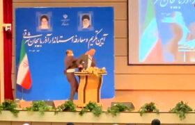 سیلی خوردن استاندار جدید آذربایجان شرقی در مراسم معارفه!