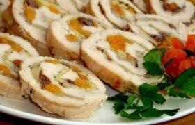طرز تهیه رولت مرغ و قارچ پنیری با بافت بسیار عالی و طعم بی نظیر