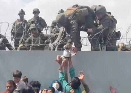 نوزاد ۱۶ روزه معروف فرودگاه کابل چه به روزش آمد؟